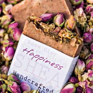 Happiness Handcrafted Soap Bars made with Rose Clay